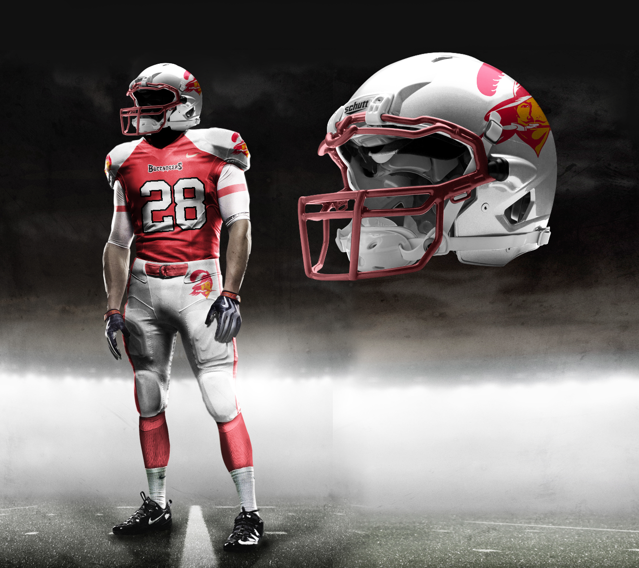 This is a mock-up of the Nike Pro-Combat Bucs uniform. 2d9b11c58