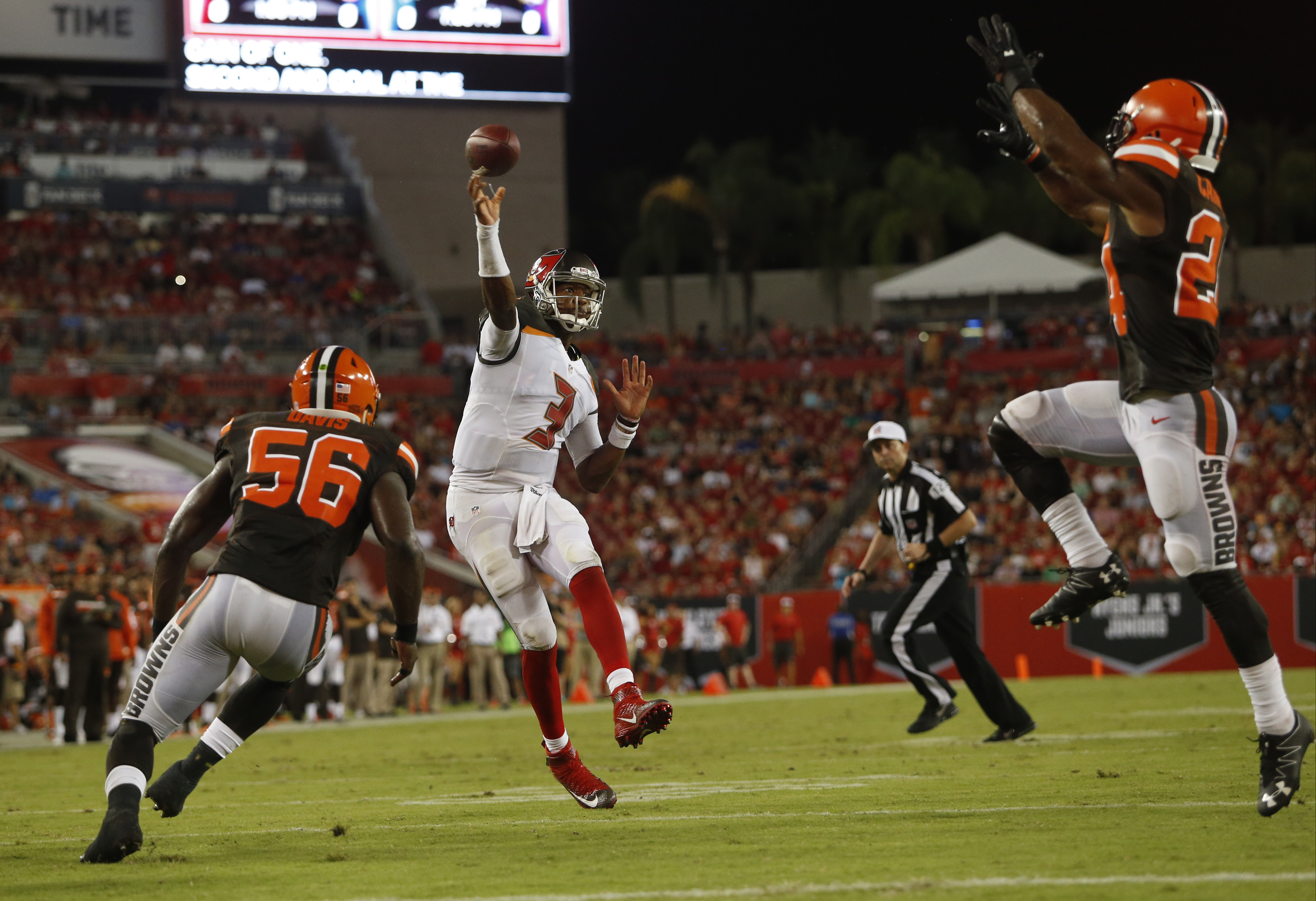 Tampa Bay Buccaneers 13-9 preseason loss to the Cleveland Browns