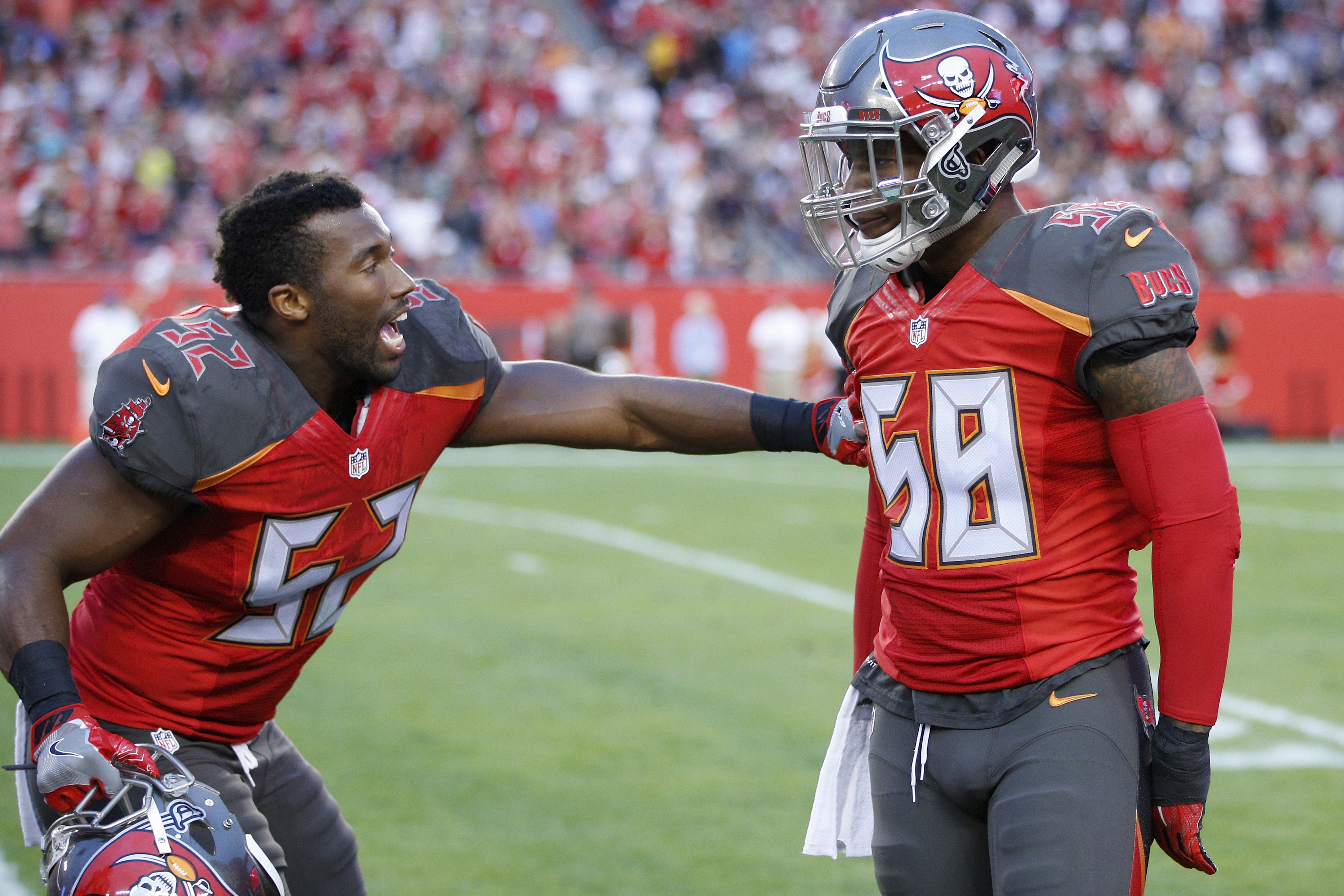 f56ec072 ... Buccaneers TAMPA, FL – DECEMBER 11 Kwon Alexander 58 and Cameron Lynch  52 of the Tampa ...